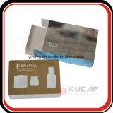 De UV Zilveren Gouden Verpakkende Doos Carboard van de Druk met Venster