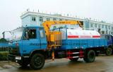 6 rodas 8000 litro caminhão de petroleiro da água com o caminhão do carregamento do guindaste e da carga para a venda