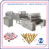 Os doces do casamento moldam a máquina de depósito dobro dos doces duros do açúcar da cor
