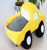 Juguetes rellenos carro amarillo lindo de la felpa