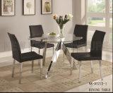 新しい方法大きく明確なガラス円形のダイニングテーブル(NK-DT271-1)
