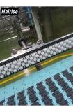 Carriles de guía lateral inferiores de acero del rodillo del ruido del transportador de Hairise