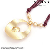 Collar-00351 Nueva joyería plateada rodio del collar de perla de la manera CZ