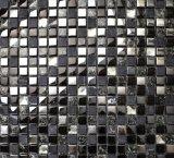 Mattonelle di mosaico Cracked del marmo e di vetro del ghiaccio nero (15*15)