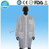 Capa del algodón para la venta al por mayor del doctor Short Sleeve Lab Coats