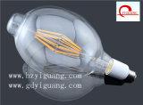 2017 bulbo ambarino grande del filamento del vidrio Bt180 LED de la talla Bt120 del nuevo diseño