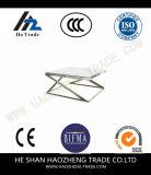 Marco del metal de la superficie del mármol de la mesa de centro de la colada Hzct155