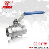 2 robinet à tournant sphérique à passage intégral d'acier inoxydable du PC 1000wog 304