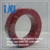 Fio elétrico isolado PVC do fio elétrico flexível liso de cobre do edifício