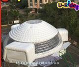 ショーのための円形の大きく白く膨脹可能なLEDの軽いテントか3ドアが付いているホール