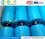rouleaux bleus de convoyeur de renvois de convoyeur de HDPE de système de convoyeur de diamètre de 159mm