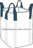 Sac à couvercle serti du sac FIBC de tonne grand avec les boucles faisantes le coin en travers