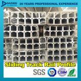 Glissement du profil T5 en aluminium de l'aluminium 6063 de longeron de piste avec la couleur personnalisée de taille