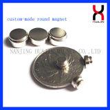 De Magneten die van Cuntersunk van NdFeB Goud plateren (D14mm-d3mm*5mm)