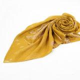 Form-Herbst-lange Polyester-Voile-Frauen-gelber Schal
