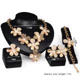Rectifier le bijou d'or nuptiale de fleur africaine réglée de mode de PCS de l'alliage 4 d'accessoires