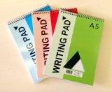 A5 escogen la pista de nota de encargo espiral de los cuadernos de la escuela de la pista de escritura
