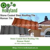 La pietra scheggia lo strato rivestito del tetto del metallo (tipo romano)