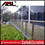 Edelstahl-im Freien Glaspool-Zaun