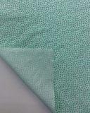 Algodão de linho que mistura a tela impressa floral com o Lt cor verde