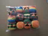 カスタムハンドかぎ針編みハックサックジャグリングボールフットバッグ