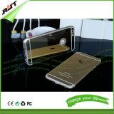 Gli accessori del telefono delle cellule placcano la cassa dello specchio di TPU per il iPhone 6 6s