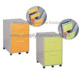 Шкаф для картотеки металла 2 ящиков передвижной (SI6-LCF2DGW)