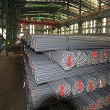 Barra d'acciaio deforme rinforzante laminata a caldo di B500b in azione (tondo per cemento armato 6-40mm)