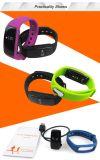 Reloj elegante ID107 de la pulsera de la salud del perseguidor del sueño de la aptitud del ritmo cardíaco de Bluetooth de la alta calidad 2016