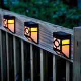 가벼운 Control+Sound Control+Dim 빛 10 LED 옥외 태양 가벼운 방수 태양 벽 램프 태양 정원 담 빛