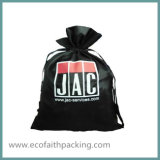 Saco Eco-Friendly do cetim da forma do saco de Drawstring do cetim com Drawstring