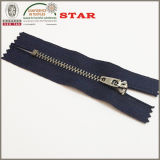 #3 metallo Antique Silver Close Estremità Zipper per Jean Zipper