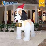 Personaggio dei cartoni animati gonfiabile dell'orso di Olaf del husky del cane delle decorazioni giganti di natale