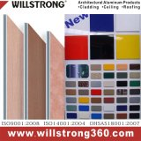 Matière composite en aluminium de couleur faite sur commande pour la façade