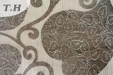 Tissu 2016 de sofa de jacquard avec le modèle de la configuration d'amour et le coton et la toile de mélange