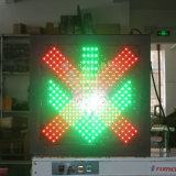 Zoll-Station-Ampel des Kreuz-grüne Pfeil-600mm blinkende