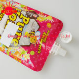 Poche comique en plastique de cornue de nourriture de bec pour l'empaquetage de jus