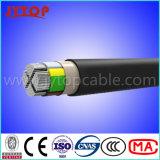 Núcleos cabo do LV 4, cabo de alumínio, cabo 4X70mm2