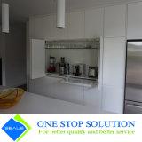 Veneer зернокомбайна и белый высокий кухонный шкаф неофициальных советников президента отделки лоска 2PAC (ZY 1128)