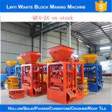Blocchetto semi automatico del mattone della cavità del cemento Qt4-24 che fa prezzo della macchina
