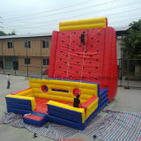 Cabritos que suben la pared, pared inflable de la escalada de los carriles multi, pared que sube inflable gigante comercial
