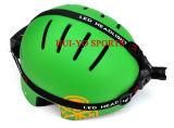 開拓者のヘルメット、前部ライトが付いている上昇のヘルメット、ヘッドランプが付いている探険のヘルメット