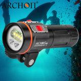 100m 2600lm 크리 사람 LED 스쿠바 다이빙 플래쉬 등이 급강하 빛 새로운 사진 영상에 의하여 점화한다