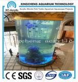 Tanque de peixes acrílico personalizado do cilindro do aquário