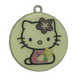 Custom Stamped Round Kitty Cat Metal Hang Tags