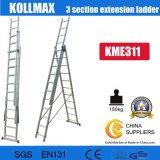 Kapitel-Extensions-Strichleiter 3X11 des Aluminium-3