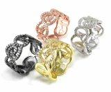 Nuova cera di modo di alta qualità 2015 che imposta i monili d'argento semplici Charming dell'anello dei monili accessori per le donne R10542