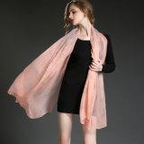 Реальная Silk госпожа Розов Бабочка Печатать Шарф Sp21-3 шарфа Georgette Crepe