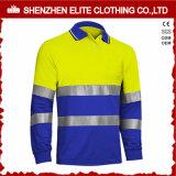 卸し売り長い袖のこんにちは気力の安全作業ポロシャツ