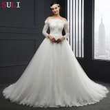 Langes Sleeve weg von The Shoulder Lace Wedding Dress (SL-041)